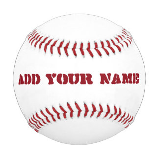 Custom Name in Red Text A01 Baseball