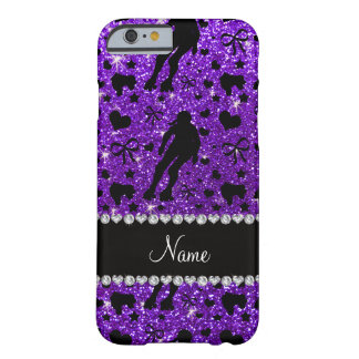 Custom name indigo glitter purple roller derby barely there iPhone 6 case