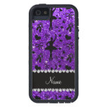 Custom name indigo purple glitter ballerinas iPhone 5/5S cover