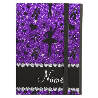 Custom name indigo purple glitter ballerinas iPad air cases