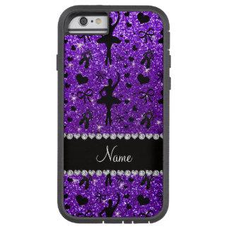 Custom name indigo purple glitter ballerinas tough xtreme iPhone 6 case