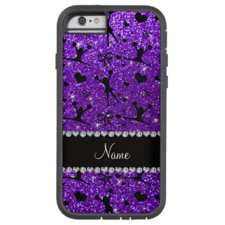 Custom name indigo purple glitter cheerleading tough xtreme iPhone 6 case