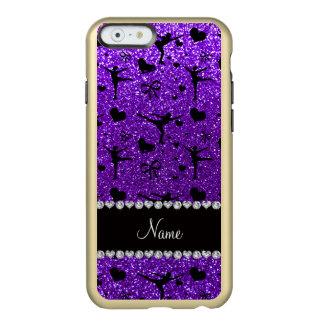 Custom name indigo purple glitter figure skating incipio feather® shine iPhone 6 case