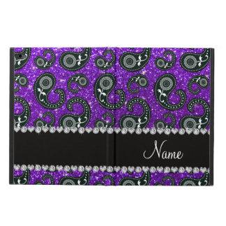 Custom name indigo purple glitter paisley powis iPad air 2 case