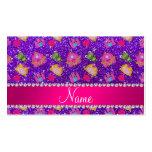 Custom name indigo purple glitter princess frogs business card