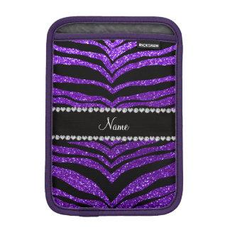 Custom name indigo purple glitter tiger stripes sleeve for iPad mini