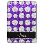 Custom name indigo purple glitter volleyballs iPad air case