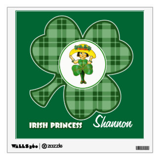 Custom Name. Irish Princess Gift Wall Decal