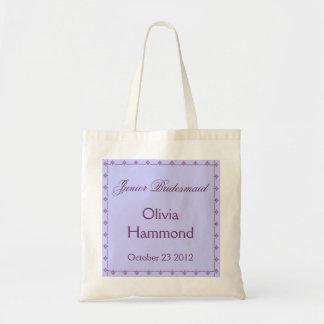 CUSTOM NAME Junior Bridesmaid  Wedding Bag PURPLE