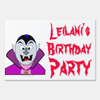 Custom Name Kid Halloween Birthday Party Yard Sign