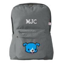 Custom Name Kids School Backpack (dog)