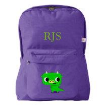 Custom Name Kids School Backpack (dragon)