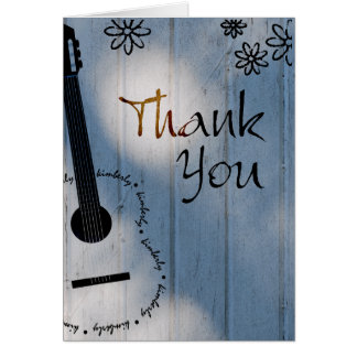 Custom name Kimberly - Guitar Thank You Note Card
