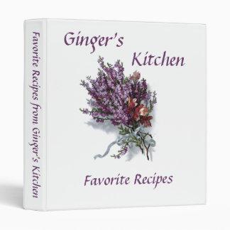 Custom Name Kitchen Favorite Recipes Binder