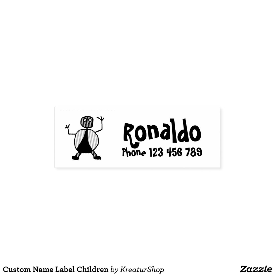 Custom Name Label Children
