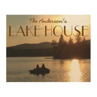 Custom Name Lake House Photo Plaque Wood Wall Art