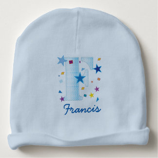 Custom Name Letter F Baby Kids Boys Baby Beanie