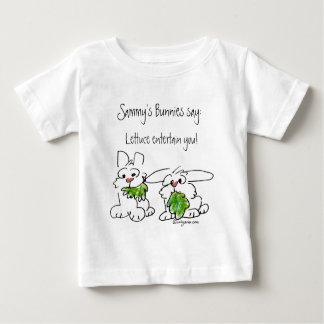 Custom Name Lettuce Entertain You Cartoon Rabbits Baby T-Shirt