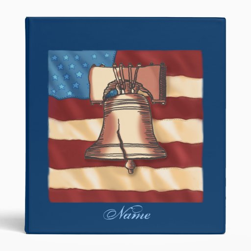 Custom Name Liberty Bell Binders