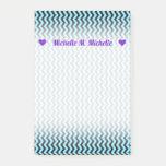 [ Thumbnail: Custom Name + Light Blue & Black Wave Pattern Notes ]