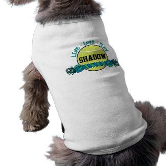 Custom Name, Live Love Play, Blue Dog Toys, Shirt