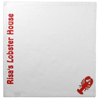 Custom Name Lobster Cloth Napkins