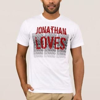 Custom Name Loves Running Grunge T-Shirt