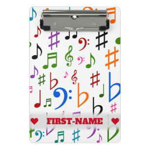 Colorful Music Symbols Office School Products Zazzle