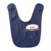 Custom Name Mechanic Baby Bib