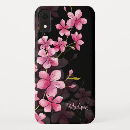 Custom Name | Modern Floral Cherry Blossom Pattern Phone Case