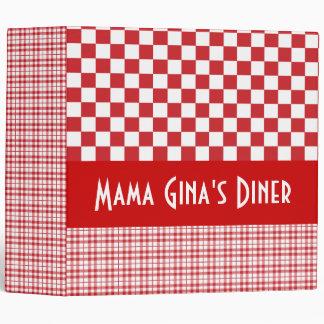 """Custom Name Mom's Diner 2"""" Binder"""