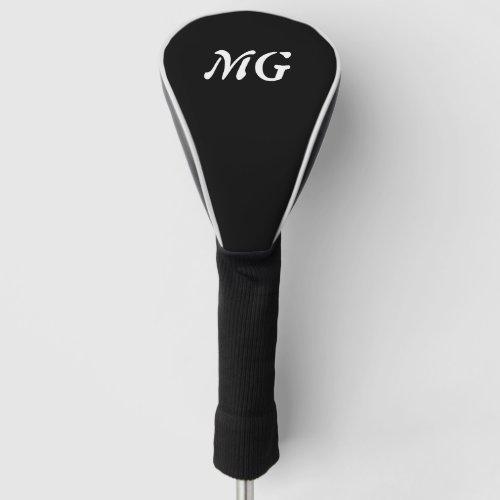 Custom name monogram driver cover for golfers