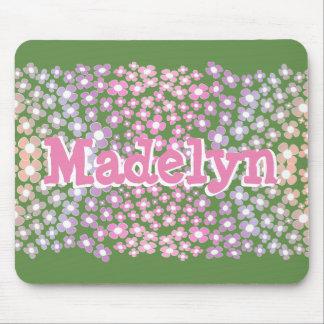 CUSTOM NAME MONOGRAM FLOWERS FOR GIRLS MOUSEPAD