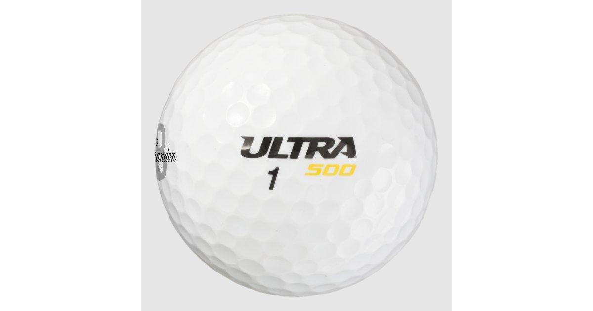 Custom Name Monogram Golf Balls For Men And Women Zazzle