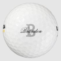 Custom name monogram golf balls for men and women