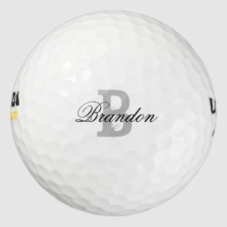 Custom name monogram golf balls for men and women