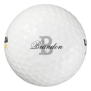 logotees Custom name monogram golf balls for men and women