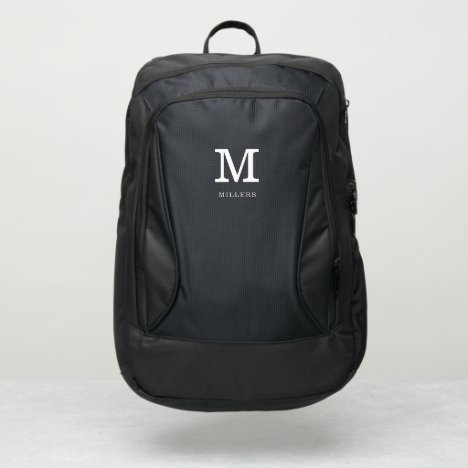 Custom Name Monogram Initial Personalized Port Authority® Backpack