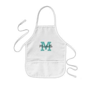 logotees Custom name monogram kids baking apron