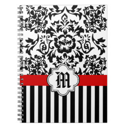 CUSTOM NAME monogram NOTE BOOK