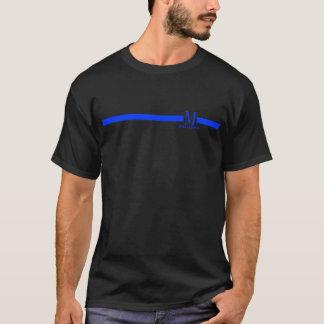 custom name   monogram thin blue line T-Shirt