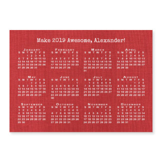 Custom Name Motivational Red 2019 Calendar