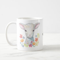 Custom Name Mug Cute Lamb Sheep Christian Gift Mug