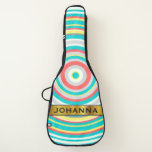 [ Thumbnail: Custom Name & Multi-Colored Ring/Circle Pattern Guitar Case ]