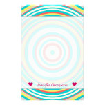 [ Thumbnail: Custom Name + Multi-Colored Ring/Circle Pattern Stationery ]