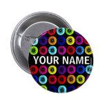 Custom Name Multicolor Dandelions Button