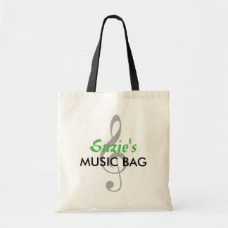 Custom Name Music Bag - Bright Green