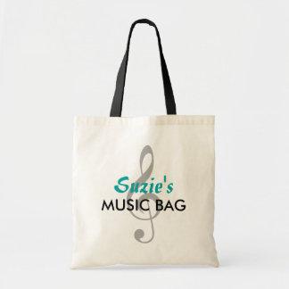 Custom Name Music Bag - Teal