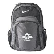 Custom name music deejay DJ logo Nike backpack