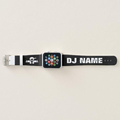Custom name Music DJ Apple watch strap